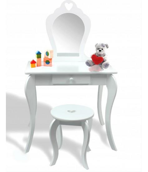 Vaikiškas Medinis Kosmetinis Staliukas - vaiko kambario baldai, vaikiskos lovos, lovos vaikams, vaikiskos lovytes, dviaukste lova