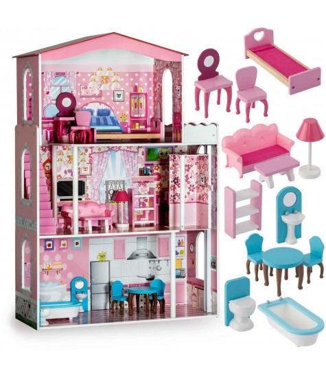 Medinis Lėlių Namas - vaiko kambario baldai, vaikiskos lovos, lovos vaikams, vaikiskos lovytes, dviaukste lova