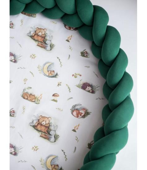 Kilimėlis 2in1 forest tamsiai žalias - vaiko kambario baldai, vaikiskos lovos, lovos vaikams, vaikiskos lovytes, dviaukste lova
