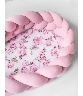 KŪDIKIO LIZDELIS elniukas rožinis