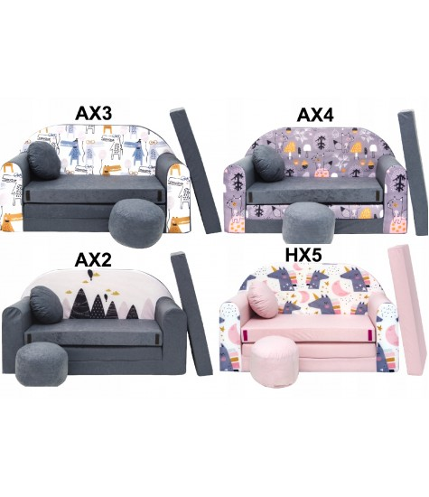 Minkštas Fotelis-Lova (Išskleidžiamas) - vaiko kambario baldai, vaikiskos lovos, lovos vaikams, vaikiskos lovytes, dviaukste lova