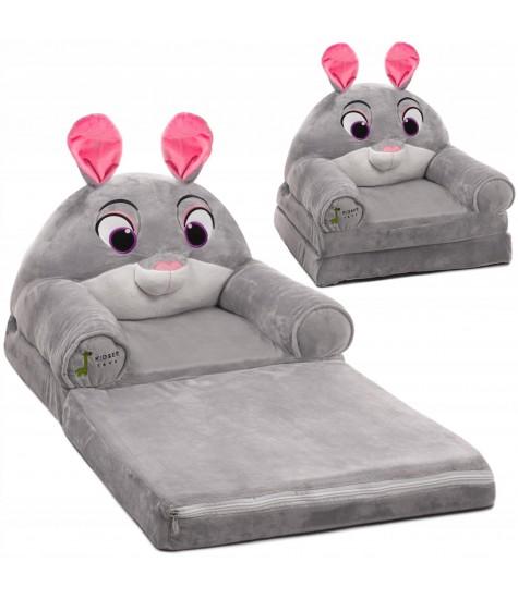 Minkštas fotelis Kiškis - vaiko kambario baldai, vaikiskos lovos, lovos vaikams, vaikiskos lovytes, dviaukste lova