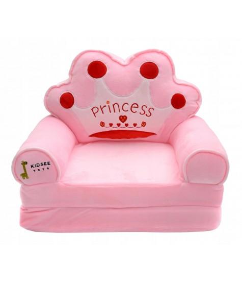 Minkštas fotelis Princess - vaiko kambario baldai, vaikiskos lovos, lovos vaikams, vaikiskos lovytes, dviaukste lova