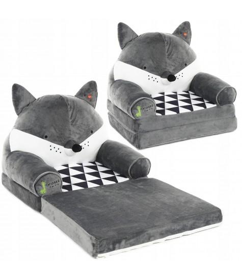 Minkštas fotelis Barsukas - vaiko kambario baldai, vaikiskos lovos, lovos vaikams, vaikiskos lovytes, dviaukste lova